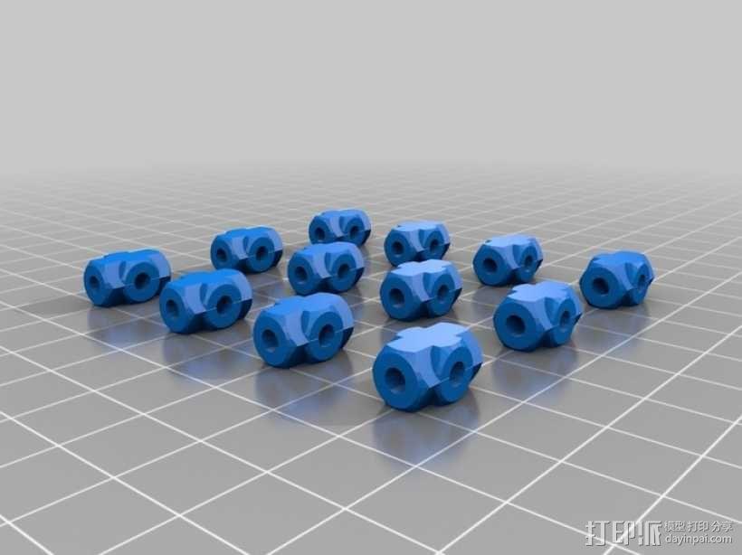Rostock 桌面式3D打印机 3D模型  图10