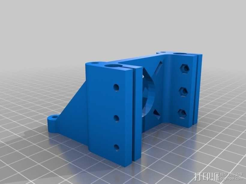 Rostock 桌面式3D打印机 3D模型  图11