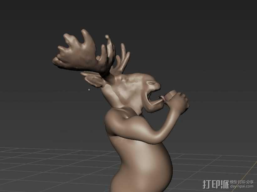 老年波波鹿 3D模型  图2