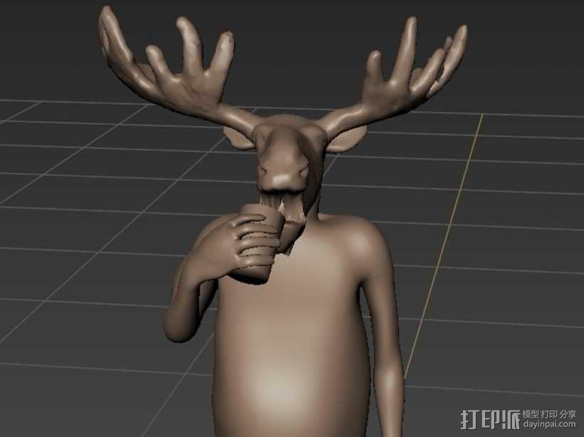 老年波波鹿 3D模型  图4
