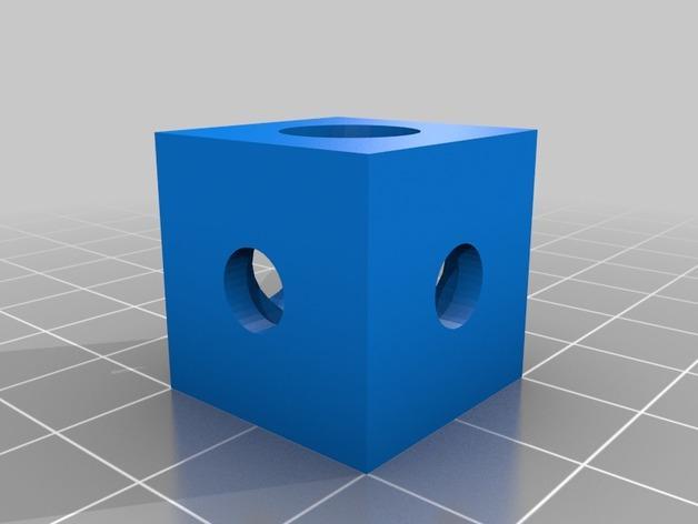 20毫米角托架 3D模型  图2