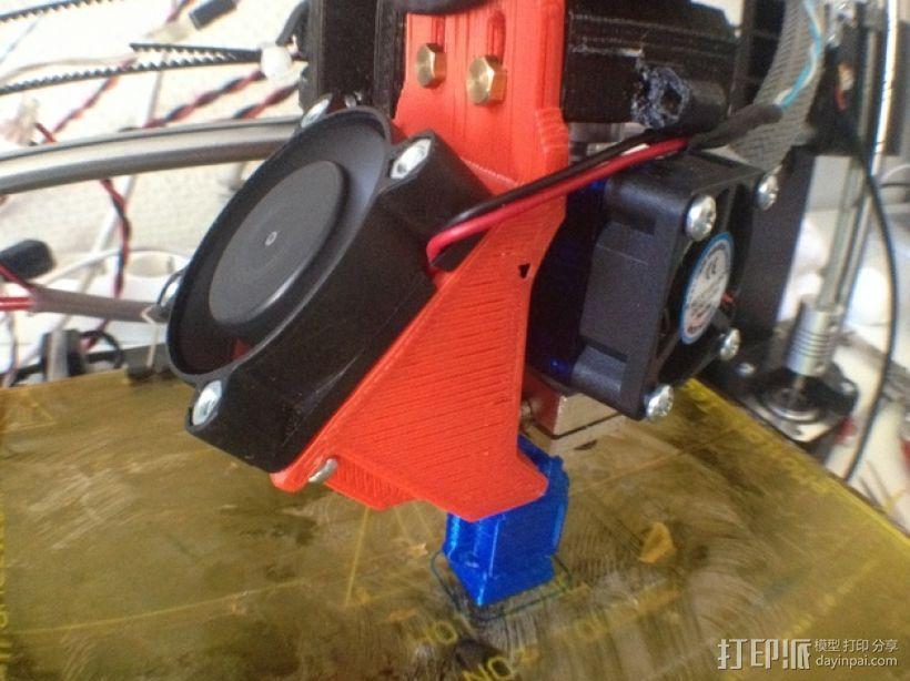 Prusa i3打印机& E3D V6热端通风导管  3D模型  图1