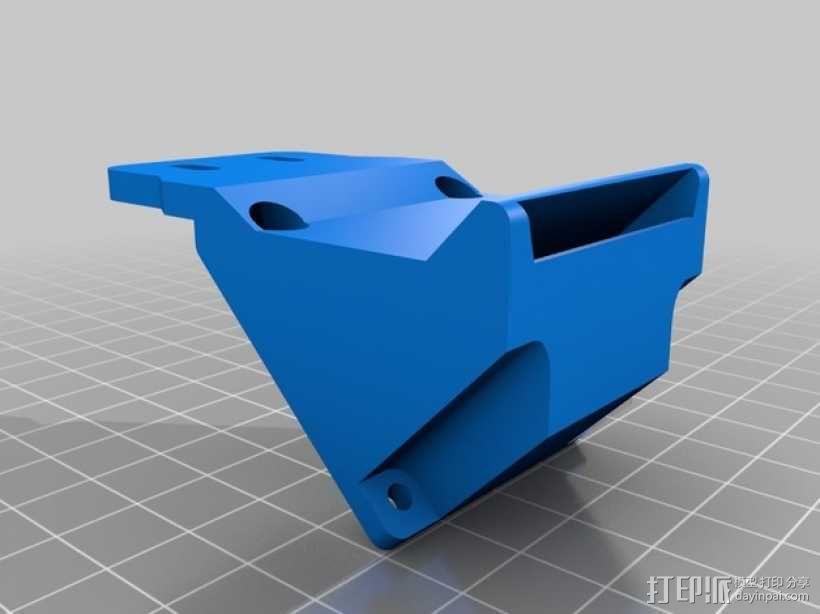 Prusa i3打印机& E3D V6热端通风导管  3D模型  图2