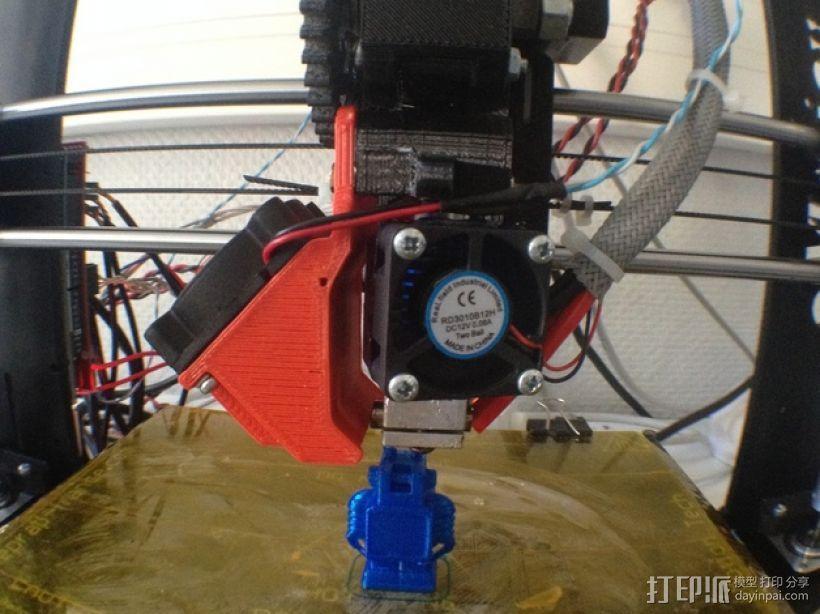 Prusa i3打印机& E3D V6热端通风导管  3D模型  图3