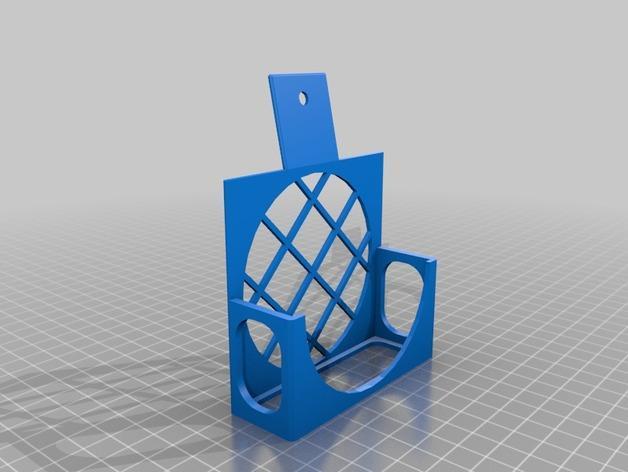 3D打印机风扇外壳 3D模型  图2