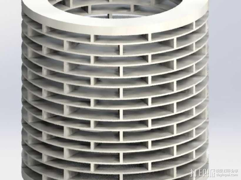 deltabot 3D打印机减震器 3D模型  图1