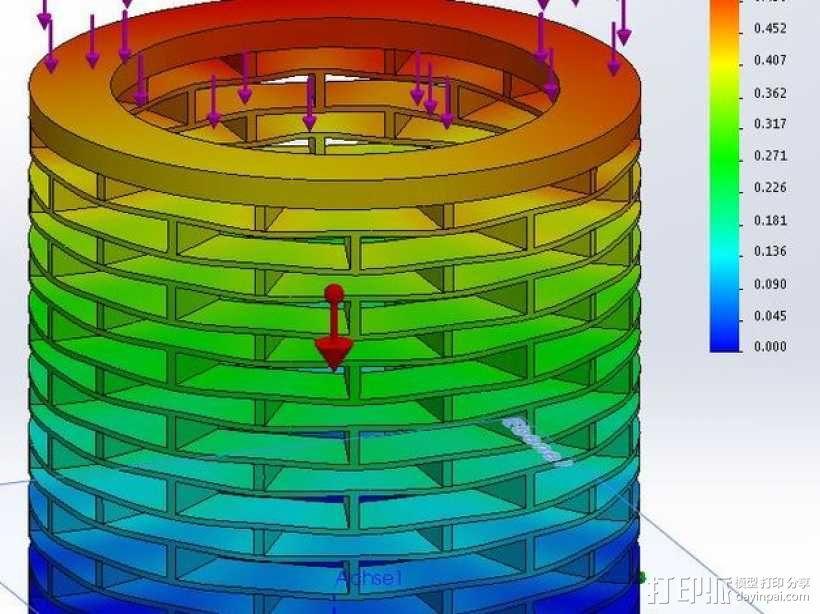 deltabot 3D打印机减震器 3D模型  图3