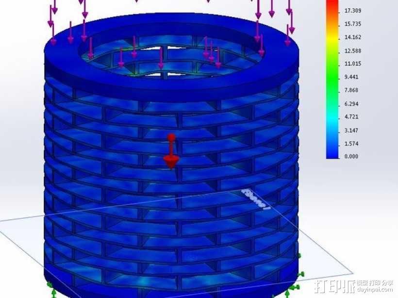 deltabot 3D打印机减震器 3D模型  图4