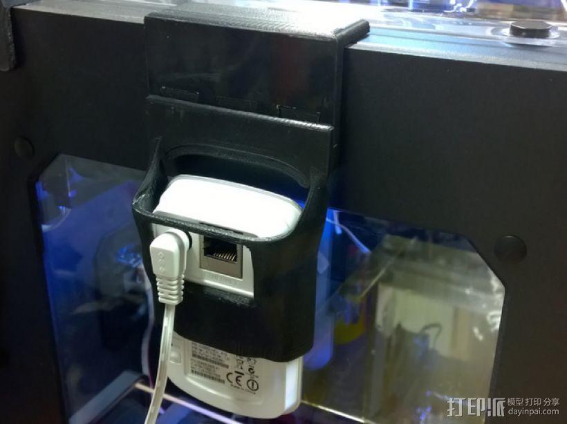 Makerbot 2/2X 3D打印机网络摄像头架 3D模型  图1