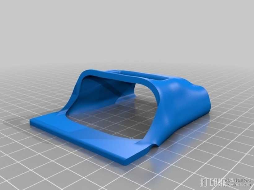 Makerbot 2/2X 3D打印机网络摄像头架 3D模型  图2