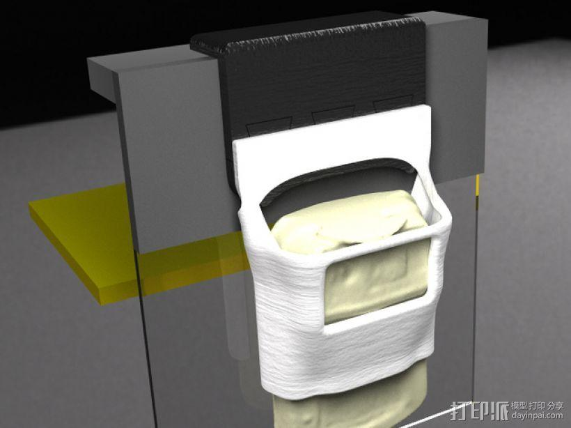 Makerbot 2/2X 3D打印机网络摄像头架 3D模型  图4