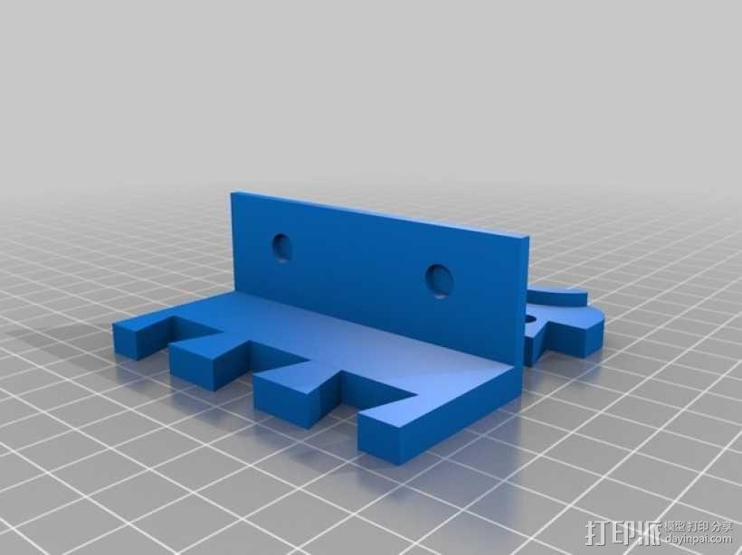 Makerbot 2/2X 3D打印机网络摄像头架 3D模型  图3
