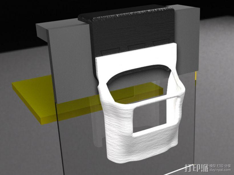 Makerbot 2/2X 3D打印机网络摄像头架 3D模型  图5