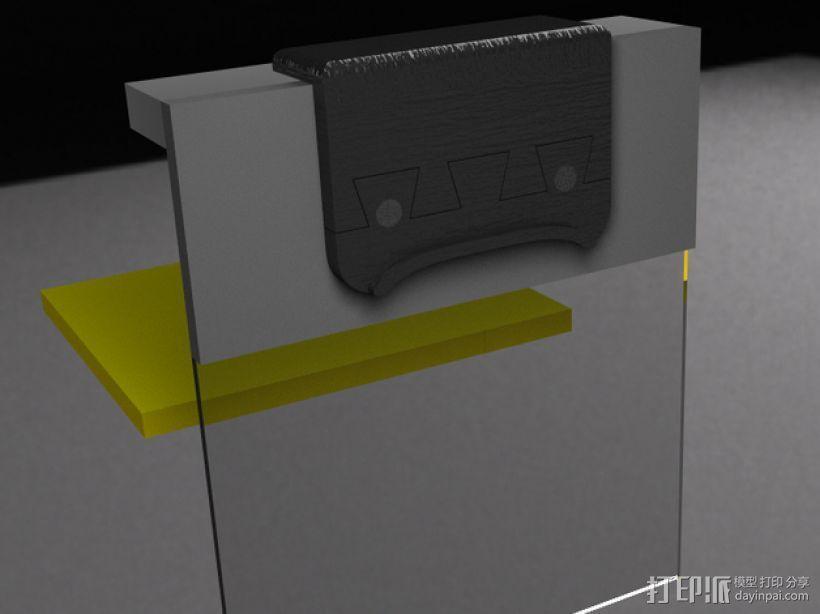 Makerbot 2/2X 3D打印机网络摄像头架 3D模型  图6