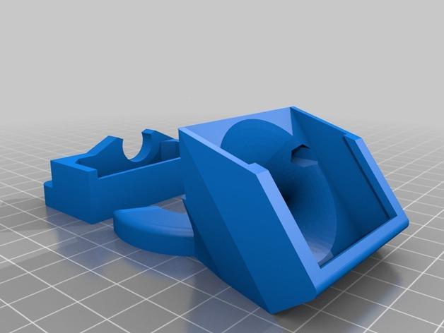Solidoodle 4挤出机通风导管及支架 3D模型  图2
