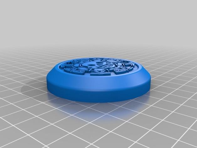 加勒比海盗密码筒端盖  3D模型  图2