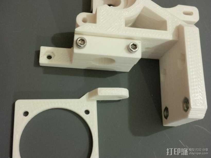 i3 E3D v6热端底板 3D模型  图3