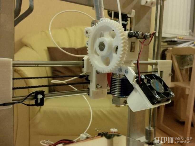 i3 E3D v6热端底板 3D模型  图5