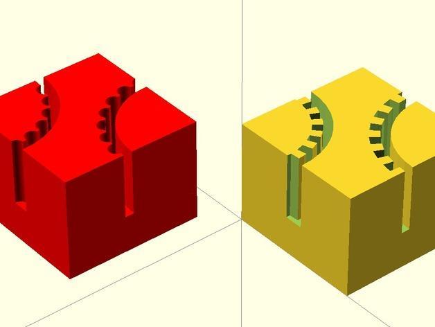 正方形齿状GT2带夹 3D模型  图2
