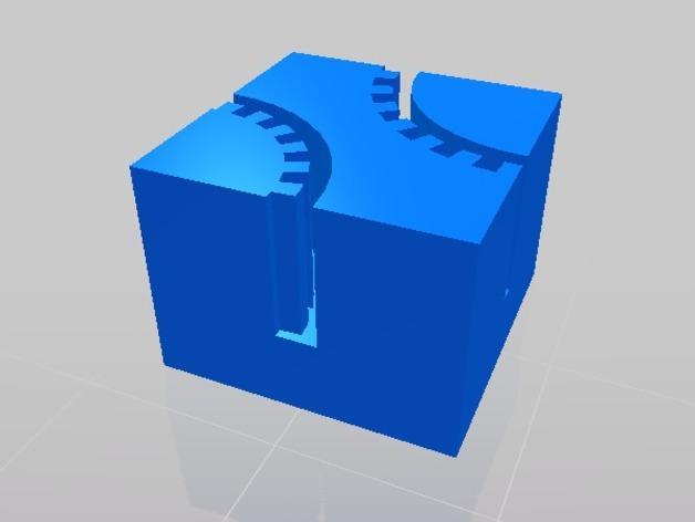正方形齿状GT2带夹 3D模型  图1