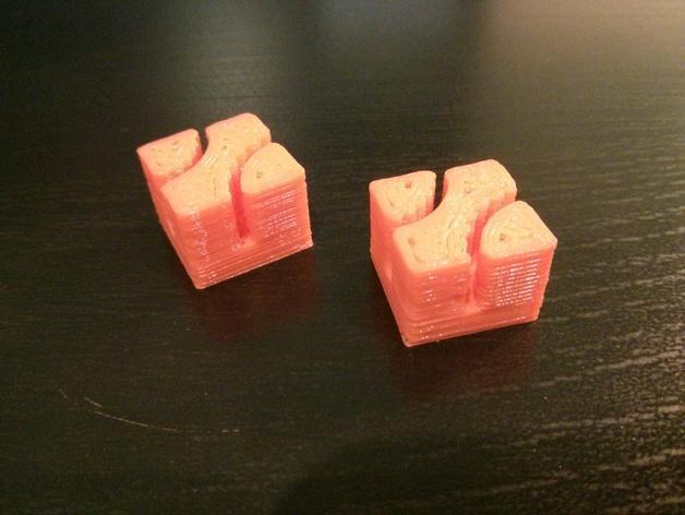 正方形齿状GT2带夹 3D模型  图4