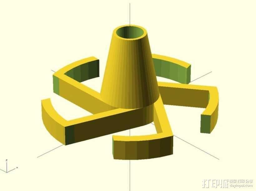 参数化线轴内衬 3D模型  图3