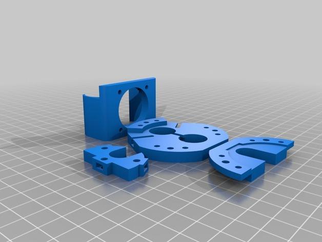 Rostock Max打印机 底座支架 3D模型  图2