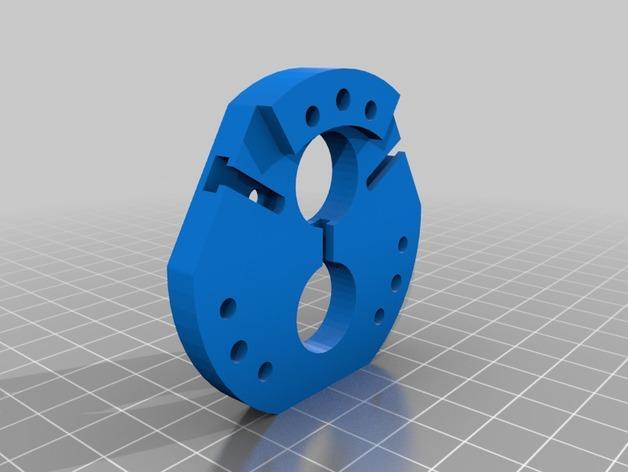 Rostock Max打印机 底座支架 3D模型  图3