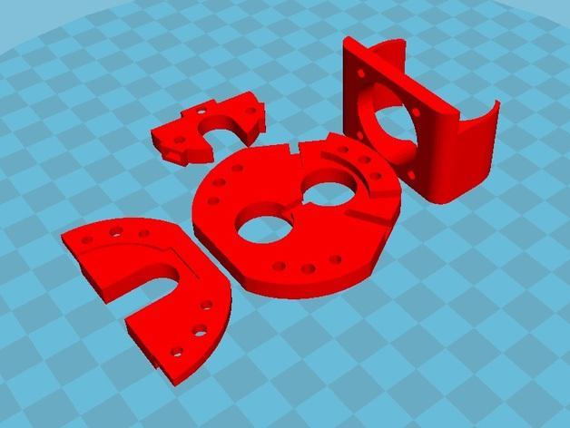Rostock Max打印机 底座支架 3D模型  图9