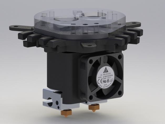 Rostock Max打印机 底座支架 3D模型  图8