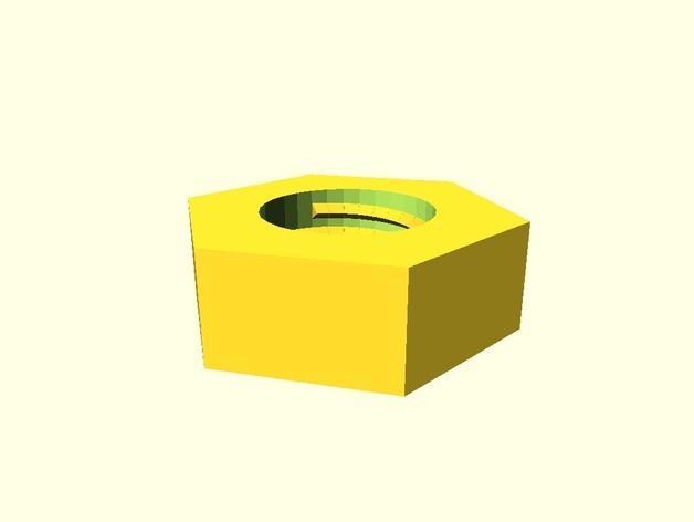 ISO标准公制螺母和螺帽 3D模型  图2