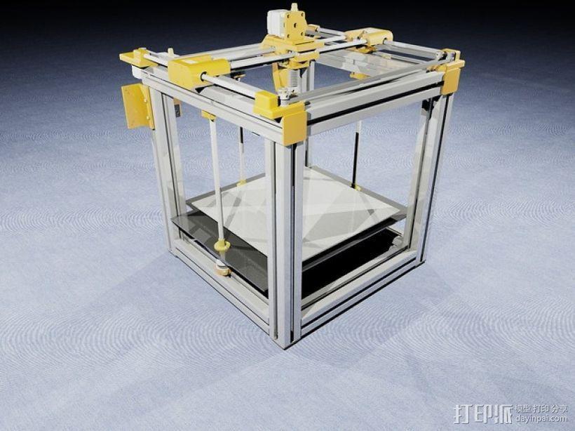 QU-BD OneUp/TwoUp打印机 3D模型  图1