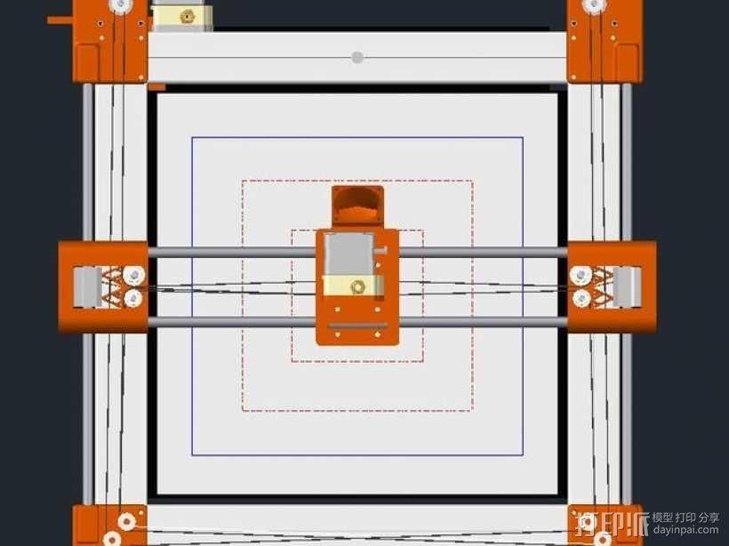 QU-BD OneUp/TwoUp打印机 3D模型  图2