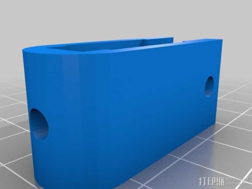 Prusa i3打印机Z轴马达底座和X轴支承辊 3D模型  图4