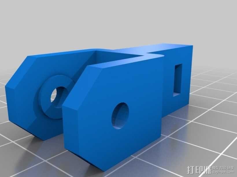 Prusa i3打印机Z轴马达底座和X轴支承辊 3D模型  图2