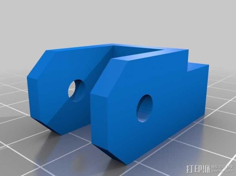 Prusa i3打印机Z轴马达底座和X轴支承辊 3D模型  图3