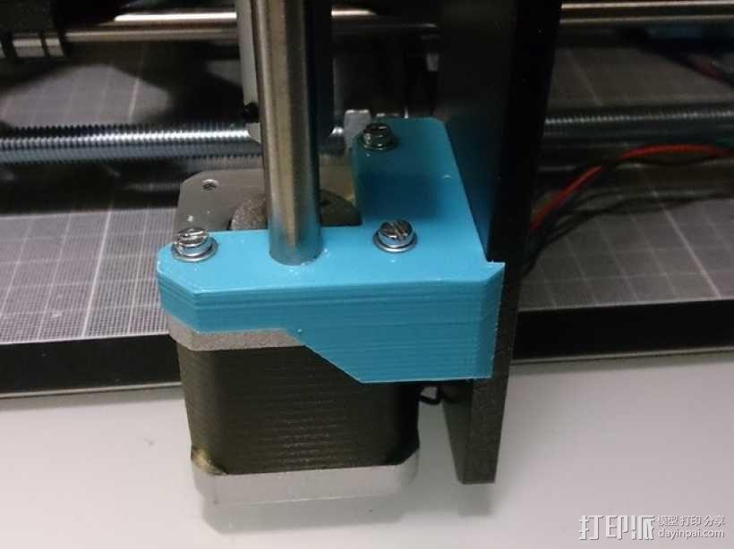 Prusa i3打印机Z轴马达底座和X轴支承辊 3D模型  图7