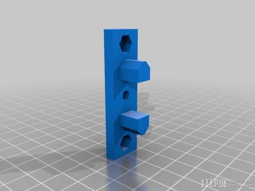 Prusa i3打印机Z轴马达底座和X轴支承辊 3D模型  图6