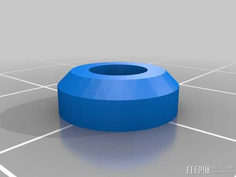 Prusa i3打印机Z轴马达底座和X轴支承辊 3D模型  图5