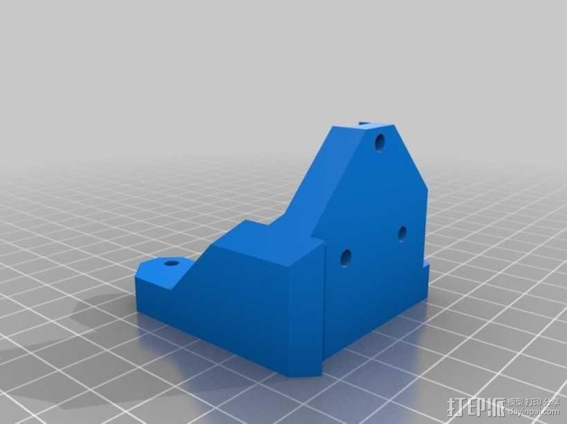 Prusa i3打印机Z轴马达底座和X轴支承辊 3D模型  图10