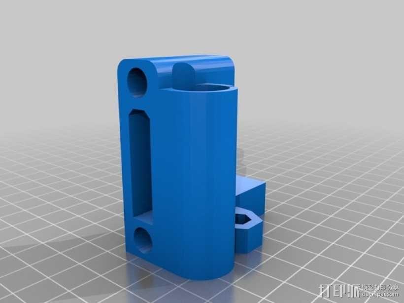 Prusa i3打印机Z轴马达底座和X轴支承辊 3D模型  图9