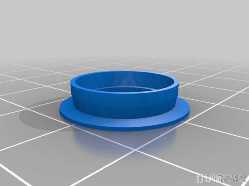 Prusa i3打印机Z轴马达底座和X轴支承辊 3D模型  图8