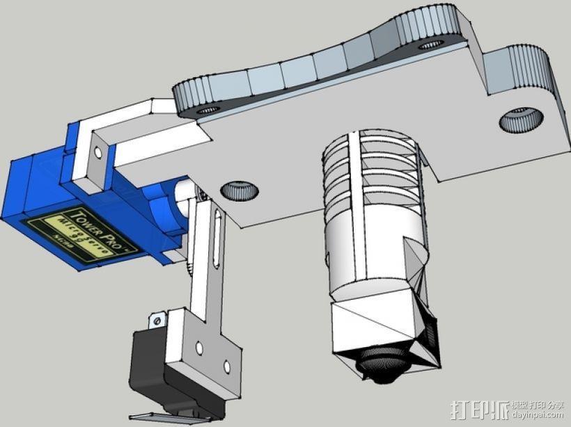 Prusa i3打印机机床高度调节器 3D模型  图1