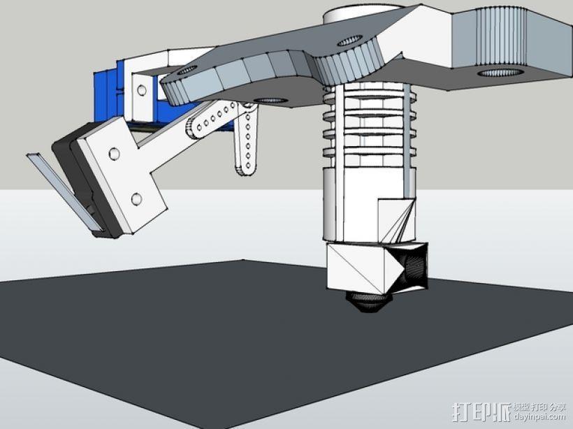 Prusa i3打印机机床高度调节器 3D模型  图5