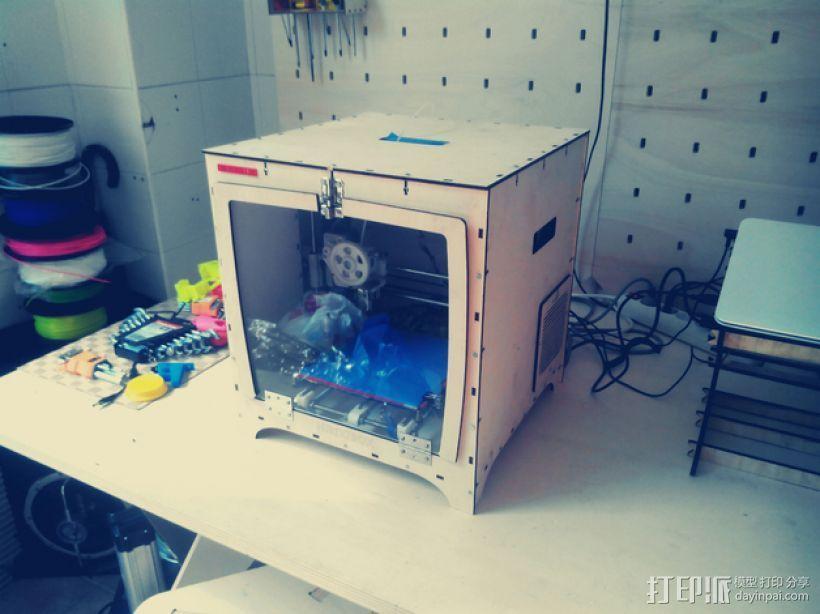 激光切割机 盒子 3D模型  图1