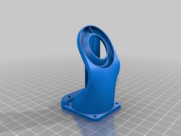 Kossel 800打印机通风导管 3D模型  图2