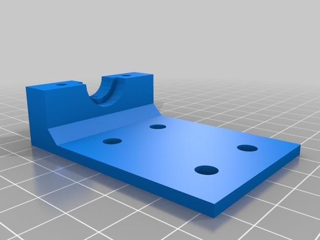 Bowden锡槽热端底座 3D模型  图3