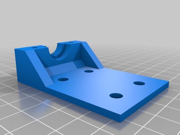 Bowden锡槽热端底座 3D模型  图4