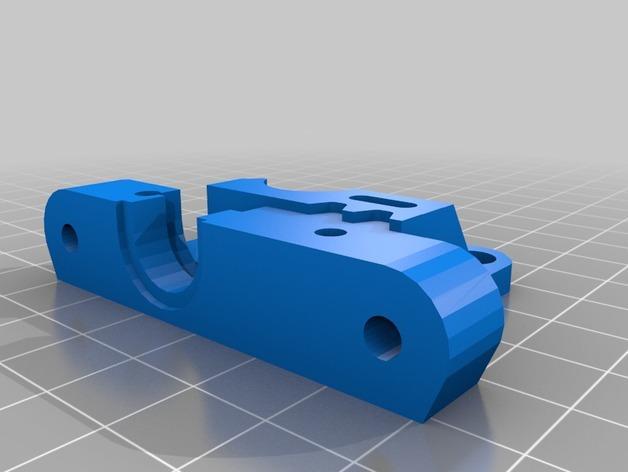 直线驱动挤出机 3D模型  图2