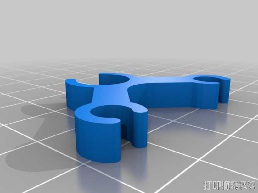 打印机丝线材料夹/导管 3D模型  图2